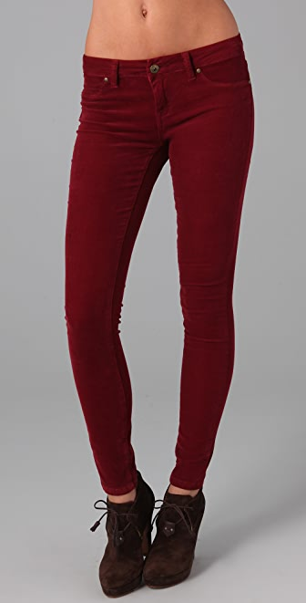 Blank Denim Spray On Corduroy Skinny Pants