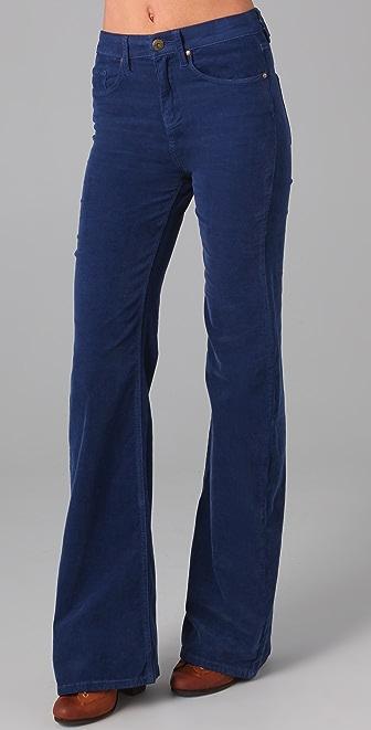 Blank Denim High Rise Corduroy Bell Bottom Pants
