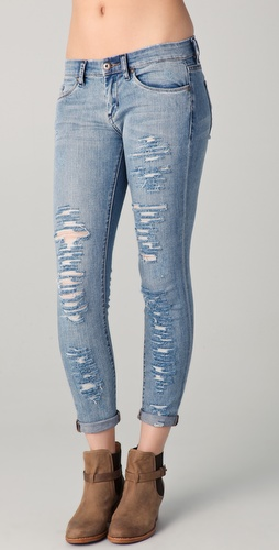 Blank Denim Low Rise Ankle Jeans