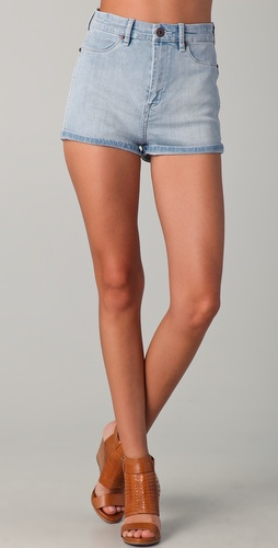 Blank Denim High Waisted Shorts