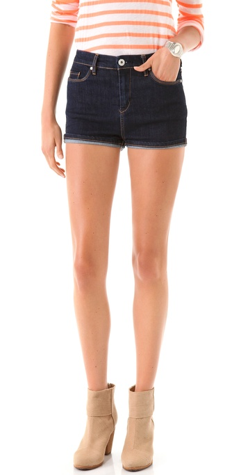 Blank Denim High Rise Cuffed Shorts