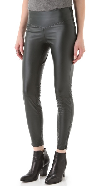 Blank Denim Faux Leather Leggings