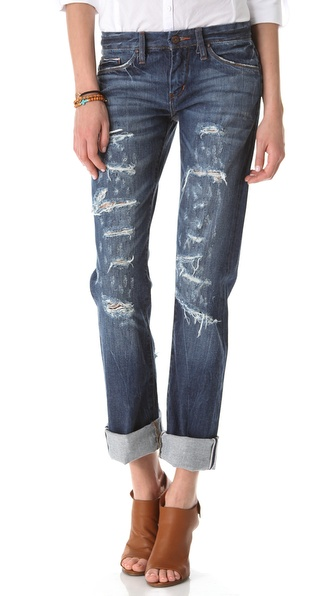 Blank Denim Distressed Straight Leg Jeans