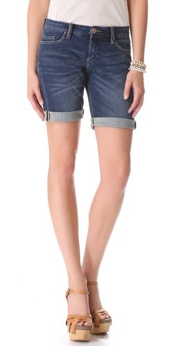 Blank Denim Roll Up Shorts