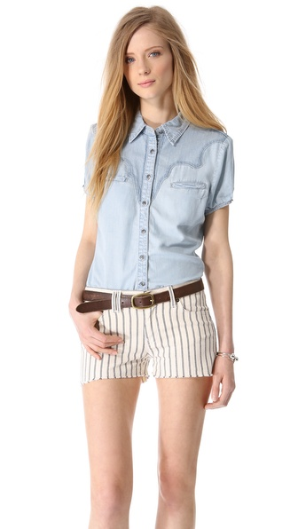 Blank Denim Ranch Dressing Western Shirt