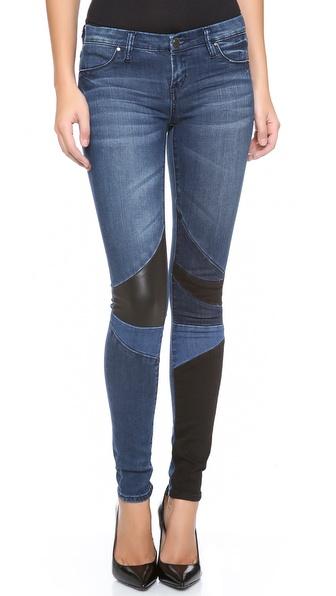Blank Denim Patchwork Skinny Jeans