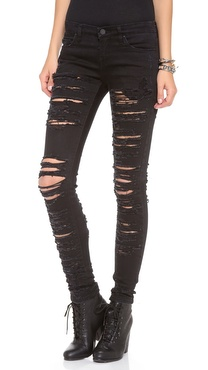 Blank Denim Ripped Skinny Jeans