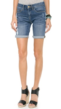 Blank Denim Rolled Boyfriend Shorts