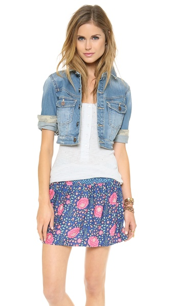 Blank Denim Cropped Jean Jacket
