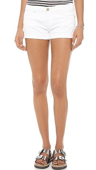 Blank Denim Semi Fit Roll Up Shorts