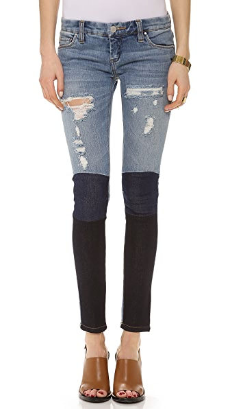 Blank Denim Colorblock Skinny Jeans
