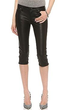 Blank Denim Vegan Shorts with Zips