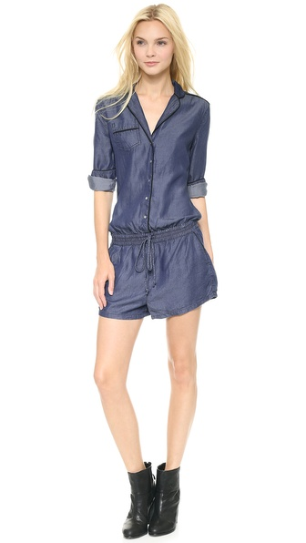Blank Denim Chambray Pajama Romper