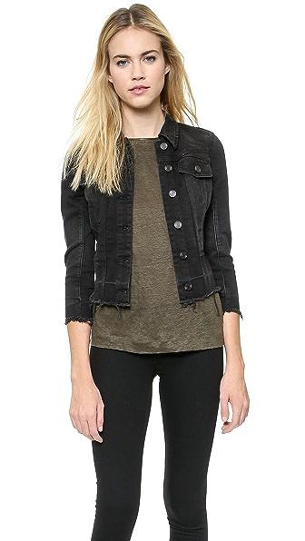 Джинсовая куртка Frayed Blank Denim. Цвет: маленькая черная лиса