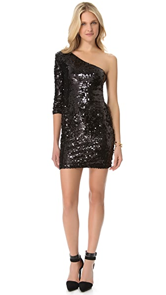 Blaque Label One Shoulder Sequin Dress