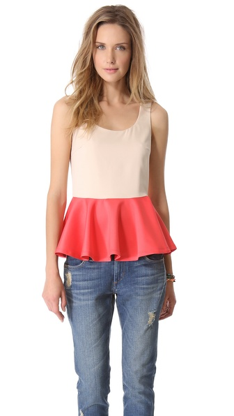 Blaque Label Peplum Tank