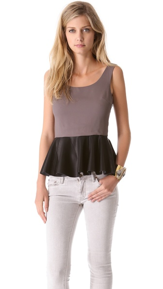 Blaque Label Sleeveless Peplum Top