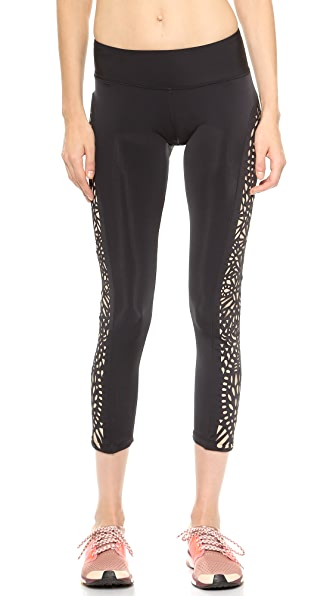 Blue Life Fit Lasercut Leggings