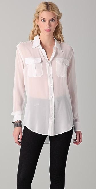 BLK DNM Silk Military Shirt