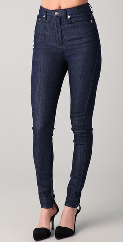 BLK DNM High Waisted Legging Jeans with Ankle Zip