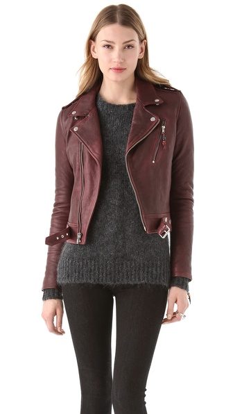 BLK DNM Cropped Leather Motorcycle Jacket