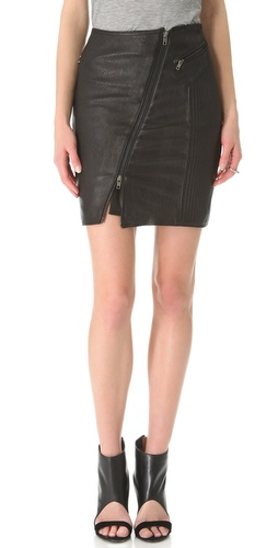 BLK DNM Leather Biker Skirt