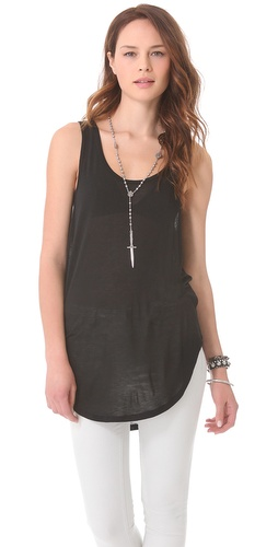 BLK DNM Tank With Back Seam