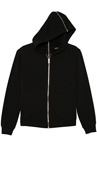 BLK DNM Hooded Sweatshirt 16 with Full Zip Detail