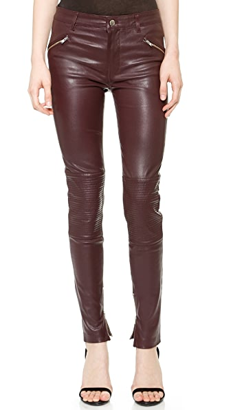 BLK DNM Stretch Leather Biker Pants 1