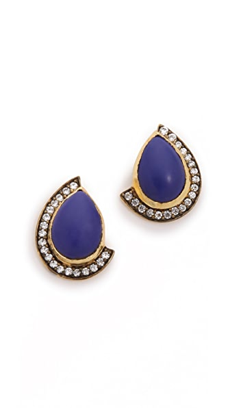Blossom Box Teardrop Pave Earrings