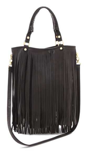 B-Low The Belt Twiggy Handbag :  black leather fringe