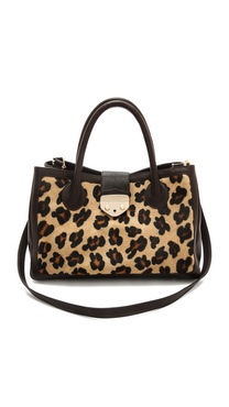 B-Low The Belt Hampton Leopard Satchel