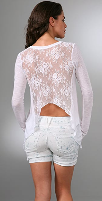 Blue Life Lace Swing Back Top