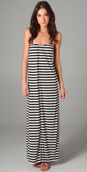 Blue Life Hipster Striped Long Dress