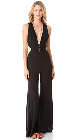 Blue Life Twisted Sleeveless Jumpsuit
