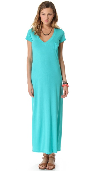 Blue Life Maxi V Neck Tee Dress