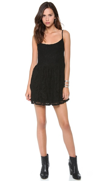 Blue Life Lace Park Mini Dress