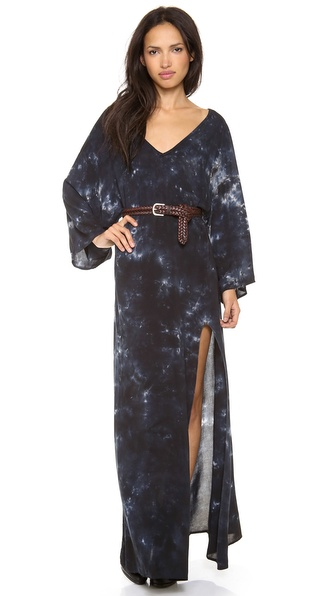 Blue Life Open Back Kimono Dress