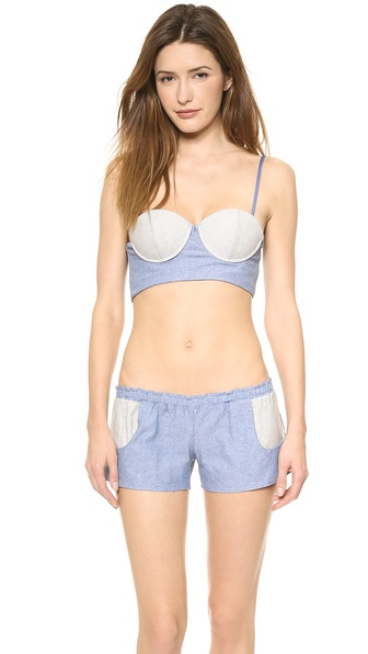 Blue Life Americana Chambray Bustier