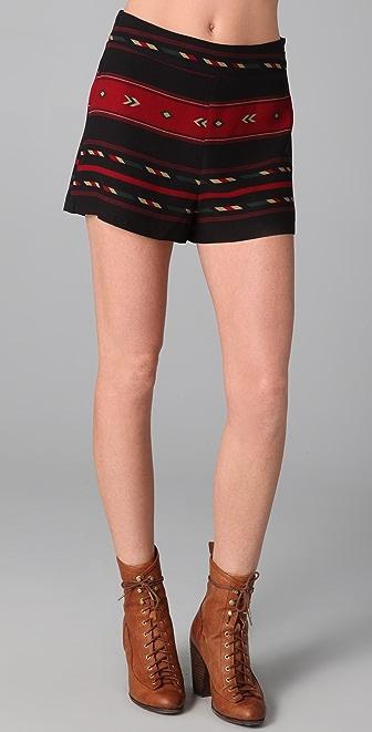 Blu Moon High Waisted Shorts