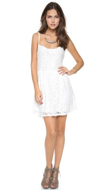 Blu Moon Lace Park Mini Dress
