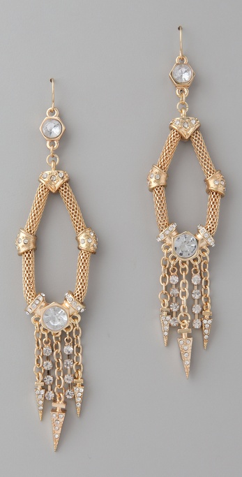 Belle Noel Crystal and Dagger Earrings