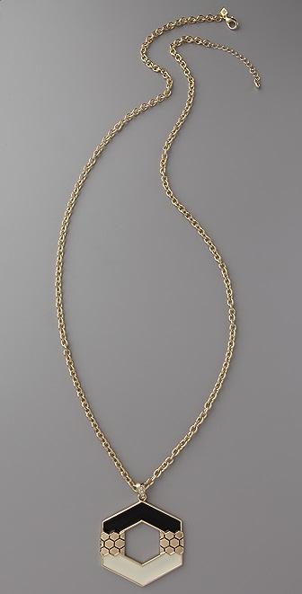 Belle Noel Honey Hexagon Pendant Necklace