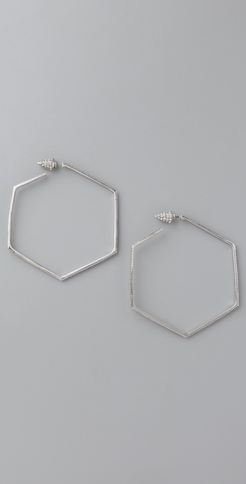 Belle Noel Honey Hexagon Hoop Earrings