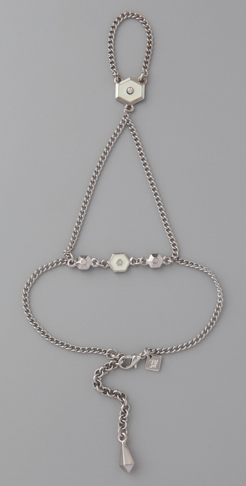 Belle Noel Honey Hexagon Hand Chain