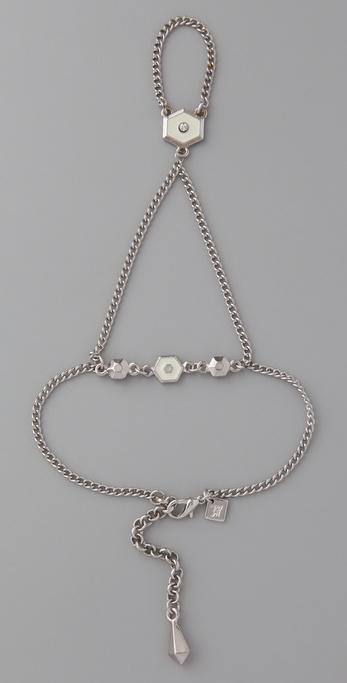 Belle Noel Honey Hexagon Hand Chain