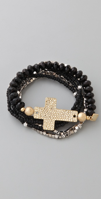 Belle Noel Cross & Beaded Bracelet Set