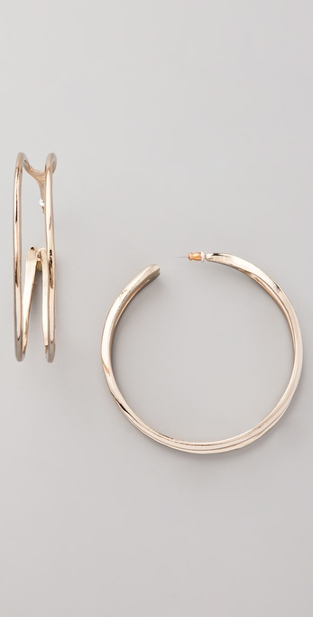 Belle Noel Wishbone Hoop Earrings
