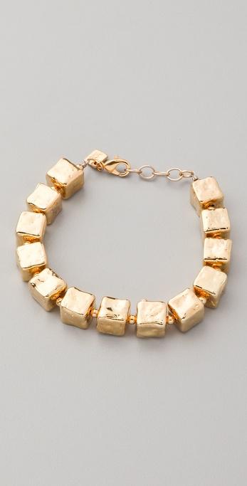 Belle Noel Molten Gold Cube Bracelet