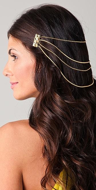 Belle Noel Molten Gold Hair Chain